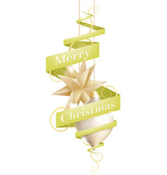 christmas decoration design vector image