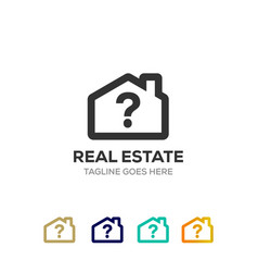 Clean house logo for real estate company vector