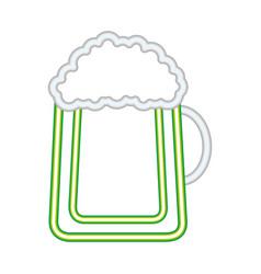 cold beer foam drink vector image