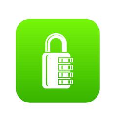 combination lock icon green vector image