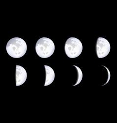 creative of realistic moon vector image