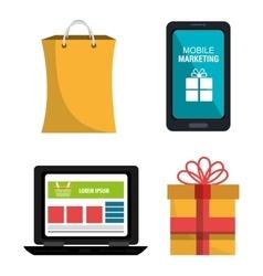 Digital marketing business design vector image