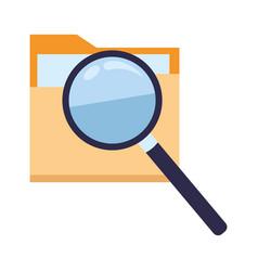 Documents folder files icon cartoon vector