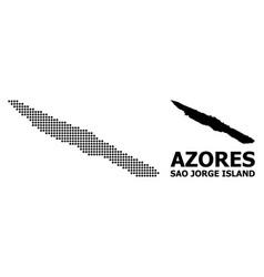 Dot mosaic map sao jorge island vector