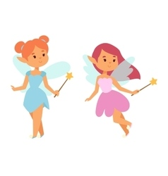 Fairies cartoon character vector