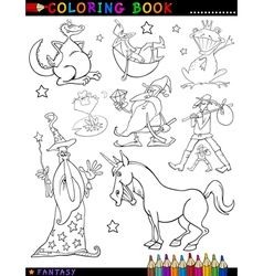 Fantasy Characters for coloring vector