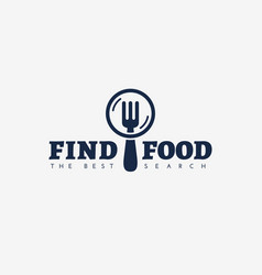 Find food logo vector