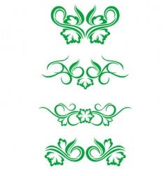 flourishes decorations vector image