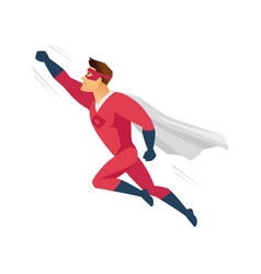 flying superhero - modern cartoon people character vector image
