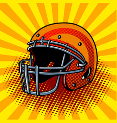 Football helmet pop art style vector