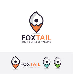 foxtail point logo design vector image