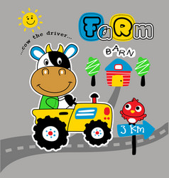 funny farmer cartoon vector image
