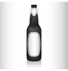 Glass bottle with stickers vector