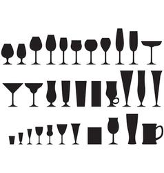 Glass goblets vector
