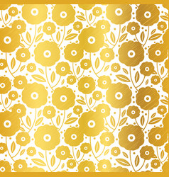 gold flowers texture pattern vector image