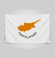 Hanging flag of cyprus republic of cyprus vector