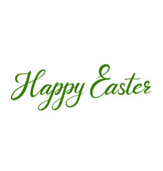 happy easter calligraphic inscription vector image