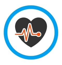 Heart Pulse Rounded Icon vector image