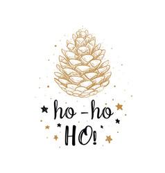 Ho ho ho lettering hand drawn christmas vector