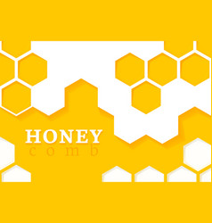 Honeycomb background of geometric vector
