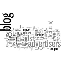 How to find blog advertisers vector