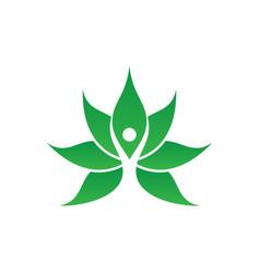 human leaf spa logo image vector image