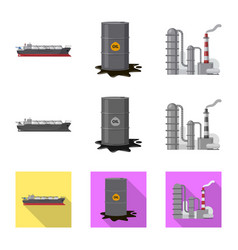 Isolated object of oil and gas symbol set of oil vector