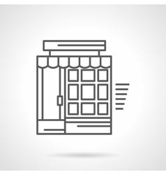 Linear store facade flat icon vector