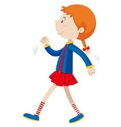 Little girl walking alone vector