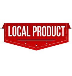 local product banner design vector image