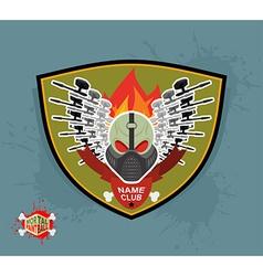 Logo paintball club Mortal paintball Guns and mask vector image