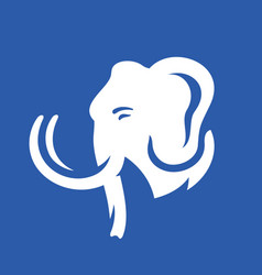 Mammoth head sign vector