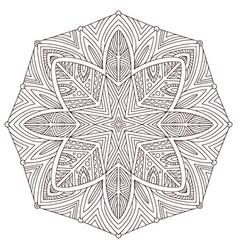 Mandala mehndi design colouring book page vector
