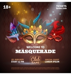 Masquerade Realistic Poster vector