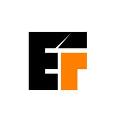 modern logo solution letter e f f e vector image