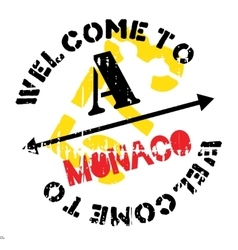 Monaco stamp rubber grunge vector