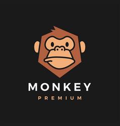 monkey chimp gorilla logo icon vector image
