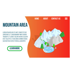 mountain area concept banner isometric style vector image