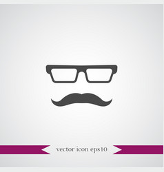 mustache icon simple barbershop vector image