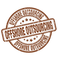 offshore outsourcing brown grunge stamp vector image