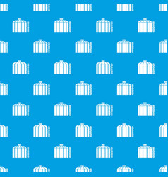oil storage tank pattern seamless blue vector image