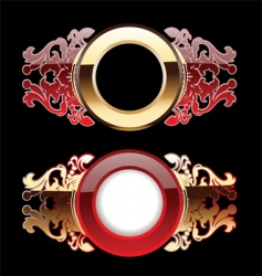 ornate rings vector image