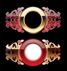 Ornate rings vector