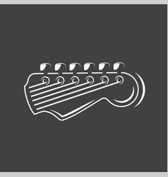 Part guitar isolated on a black background vector