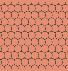 seamless pattern with round tiles vector image