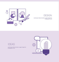 Set of design ideas banners business concept vector