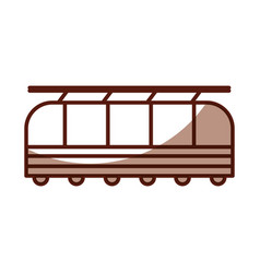 shadow cute train cartoon vector image