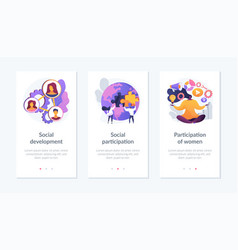social engagement app interface template vector image