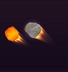 Space asteroid icon isometric style vector