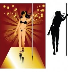 striptease vector image